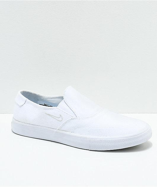 Nike SB Portmore II White Canvas Slip