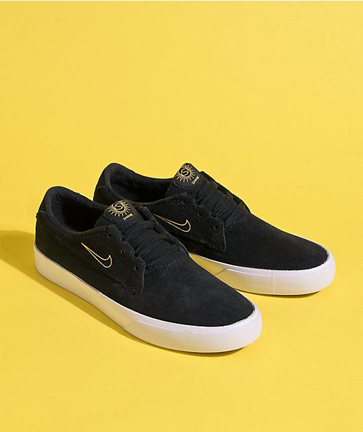 Nike SB Shane Black & University Gold Skate Shoes