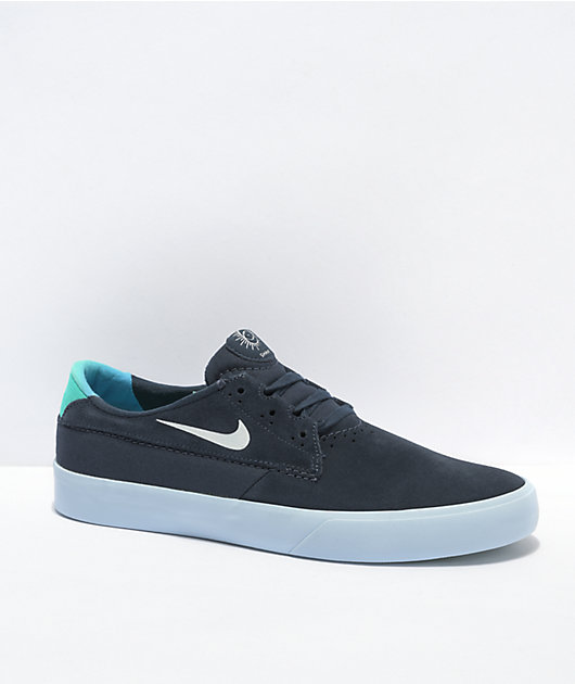 Nike SB Shane Blue Flame Skate Shoes