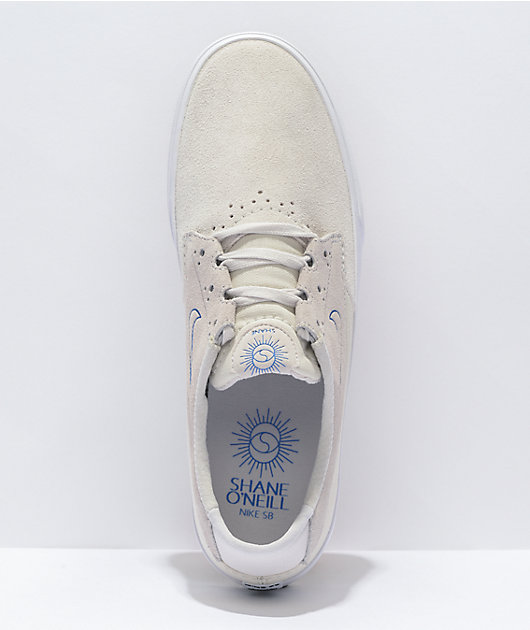 Nike SB Shane Summit White & Grey Skate Shoes