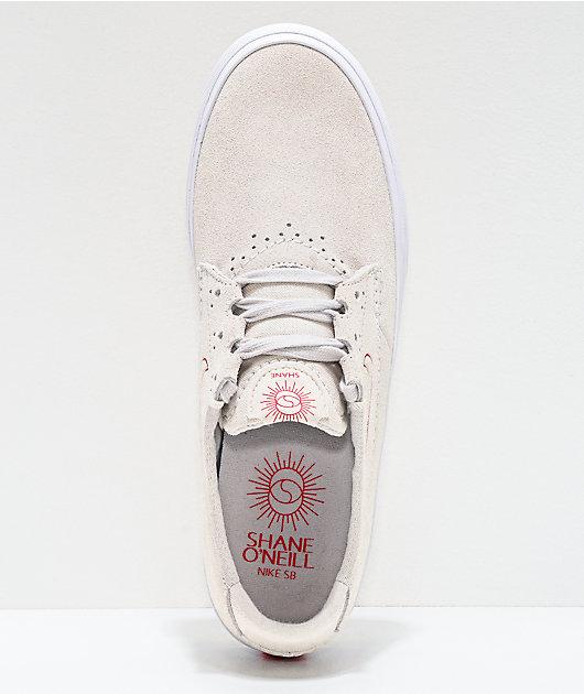Nike SB Shane Summit White & University Red Skate Shoes