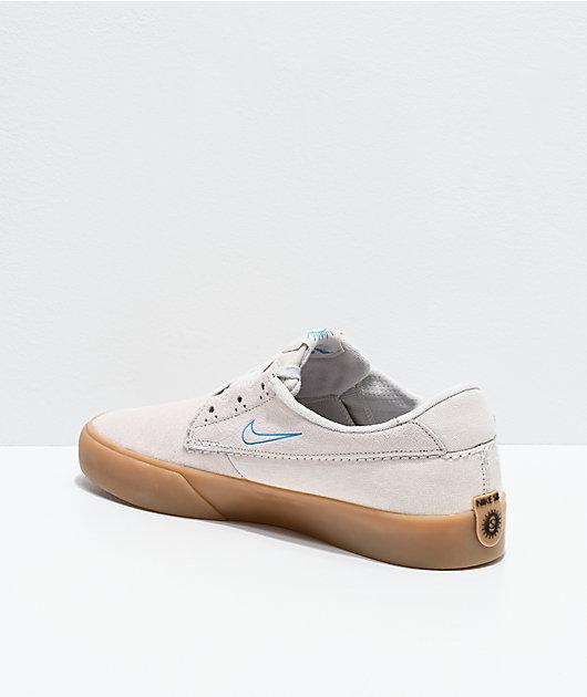Nike SB Shane zapatos de skate en blanco, azul lazer y goma