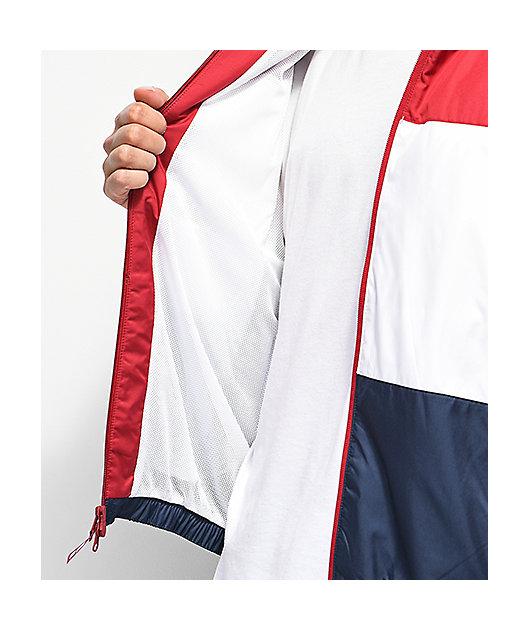 Inmersión insulto No se mueve  Nike SB Shield chaqueta cortavientos roja, blanca y azul   Zumiez