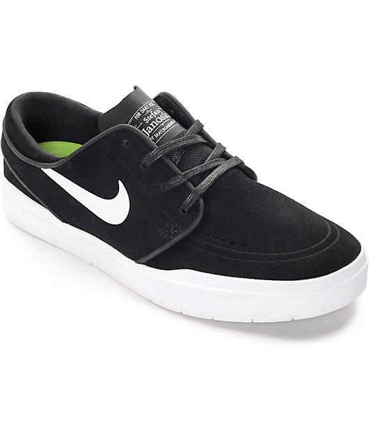 Picante Teórico Pensionista  Nike SB Stefan Janoski Hyperfeel Black & White Skate Shoes | Zumiez.ca