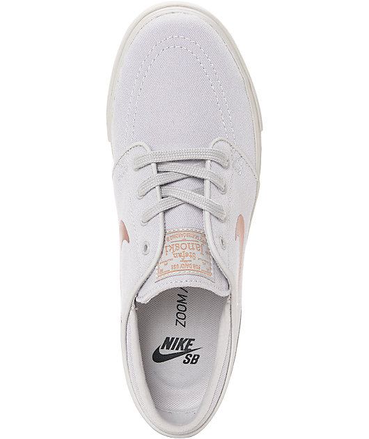 Nike SB Stefan Janoski Light Iron Ore & Bronze Canvas Womens Skate Shoes