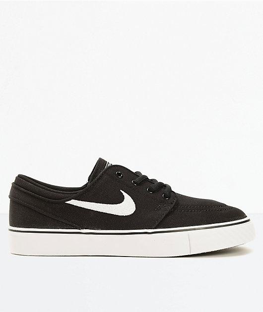 ama de casa Mártir Mala fe  Nike SB Stefan Janoski zapatos de skate de lona negra (niño) | Zumiez