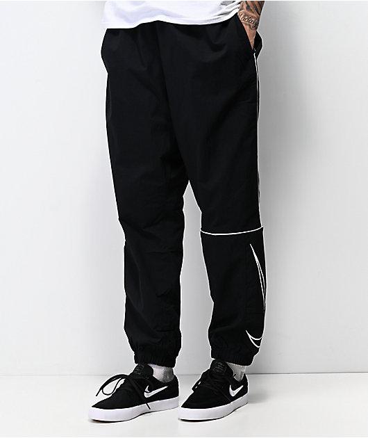 Nike SB Swoosh Black Track Pants | Zumiez