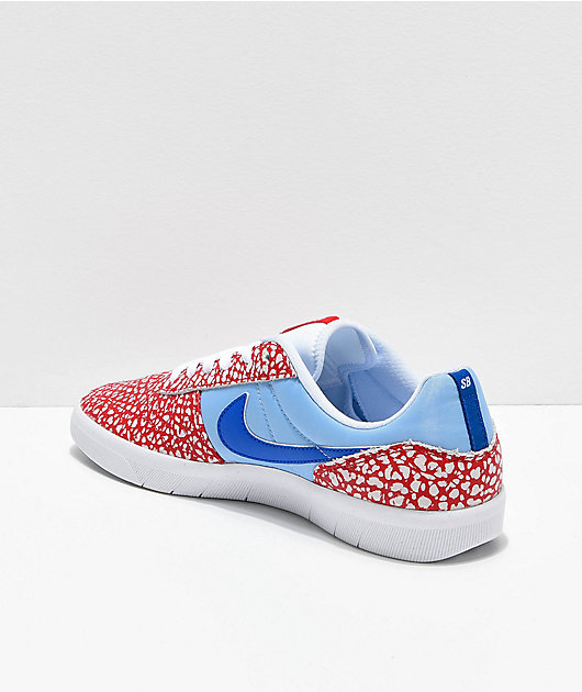 Nike SB Team Classic Dorm Room Psych Red, Blue & White Skate Shoes