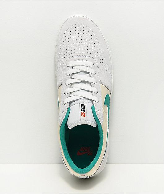 Nike SB Team Classic Phantom Grey, Green & White Skate Shoes