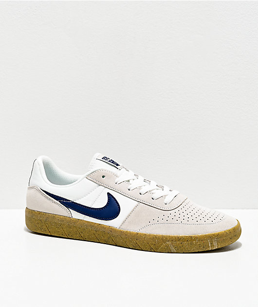 Nike SB Team Classic White & Gum Skate Shoes