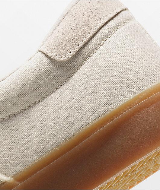 Nike SB Verona White & Gum Slip-On White Skate Shoes