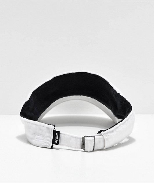 Nike SB White Corduroy Visor