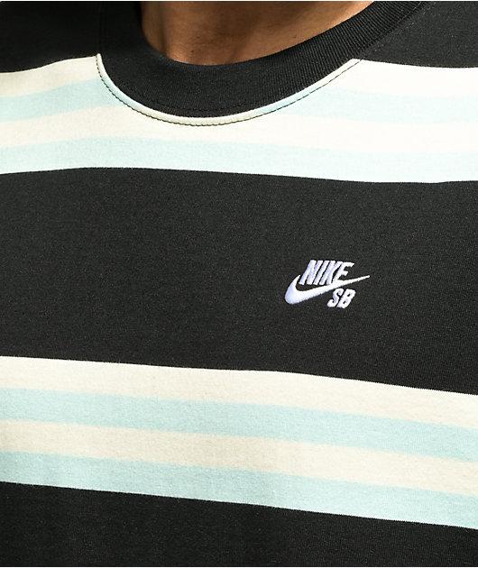Nike SB Yarn Dye Black & Blue Stripe Knit T-Shirt