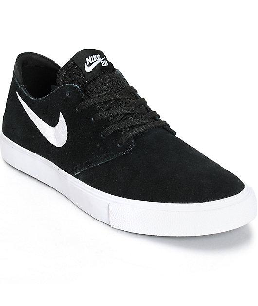 segunda mano Albany Transparente  Nike SB Zoom Oneshot Black & White Suede Skate Shoes | Zumiez
