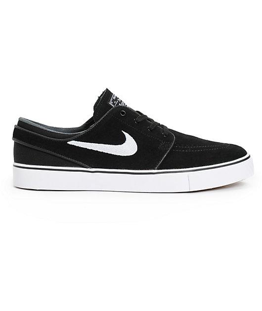 Nike SB Zoom Stefan Janoski Black & White Skate Shoes