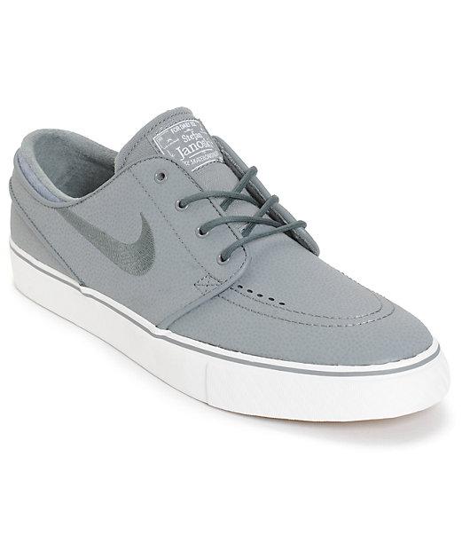 Tibio Acusador sello  Nike SB Zoom Stefan Janoski Cool Grey Leather Skate Shoes | Zumiez