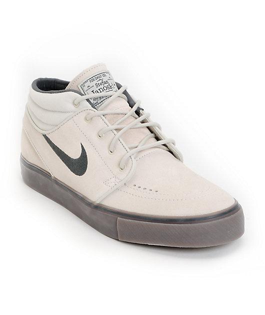 Nike SB Zoom Stefan Janoski Mid Light Bone & Dark Brown Suede ...