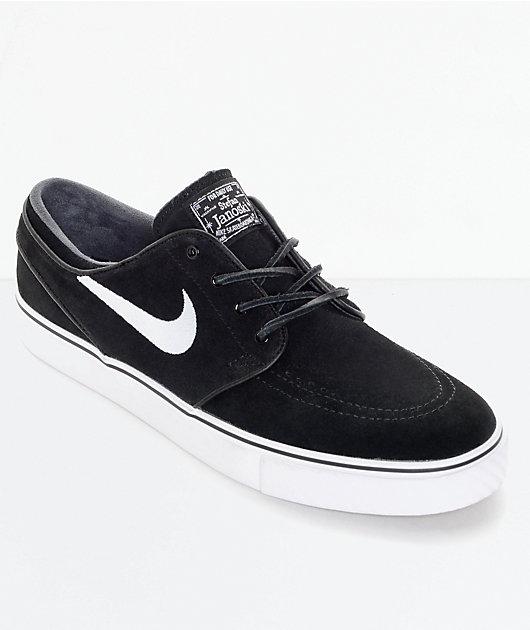 Nike SB Zoom Stefan Janoski OG Black & White Skate Shoes