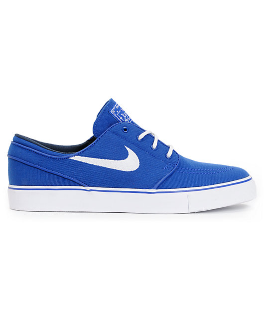 Hostil Benigno Mecánica  Nike SB Zoom Stefan Janoski Old Royal Blue & White Canvas Shoes   Zumiez