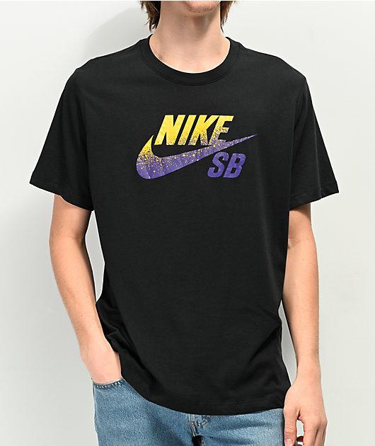 Nike SB x NBA Dri Fit LA Laker Logo Black T-Shirt