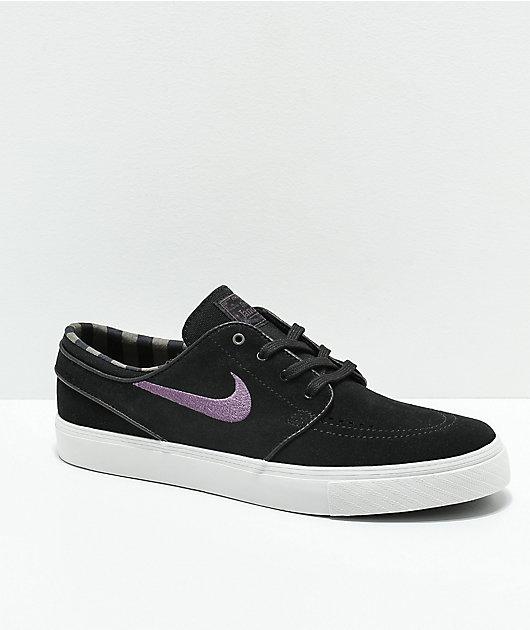 Prevención Hay una necesidad de Decepción  Nike SB zapatos de skate de ante negro, morado y blanco | Zumiez