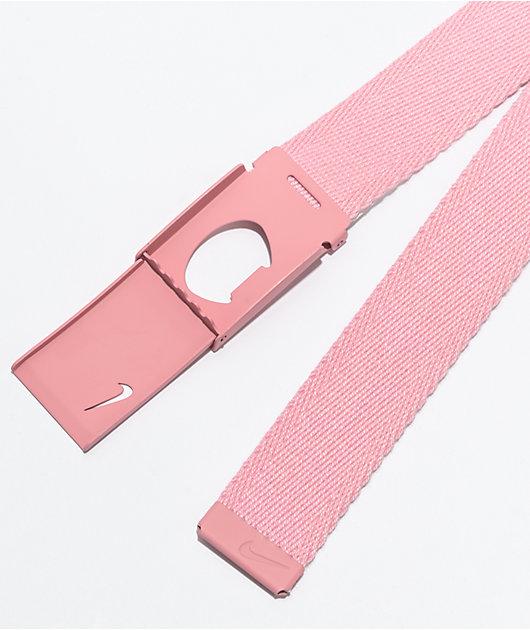 Nike Tech Essentials Pink Web Belt