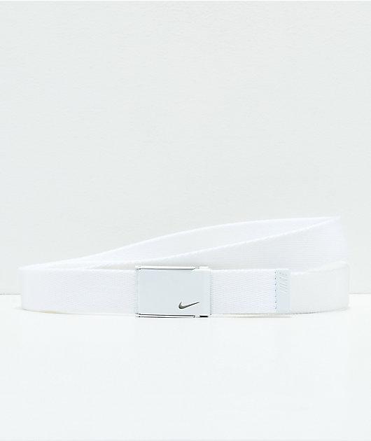 Nike Tech Essentials White Web Belt