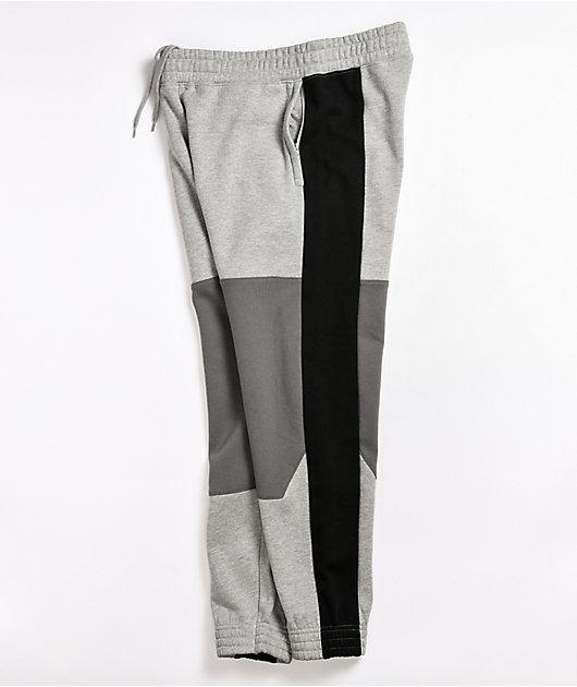 Ninth Hall Brice Heather Grey Fleece Jogger Sweatpants