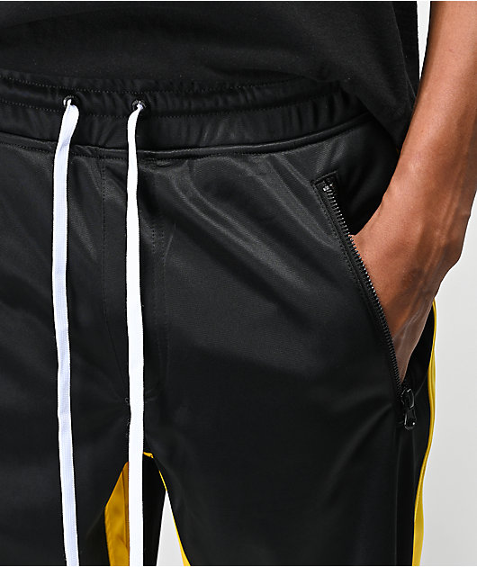 Ninth Hall Calibrate Black, White & Yellow Track Pants