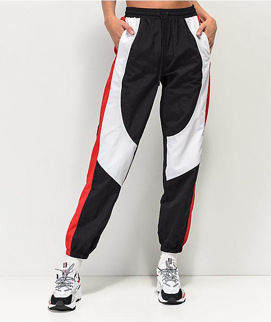 Ninth Hall Corbet pantalones de chándal rojos, blancos y negros