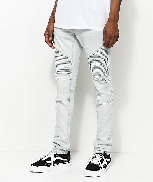 Ninth Hall Decoy Moto Light Aged Destructed Jeans