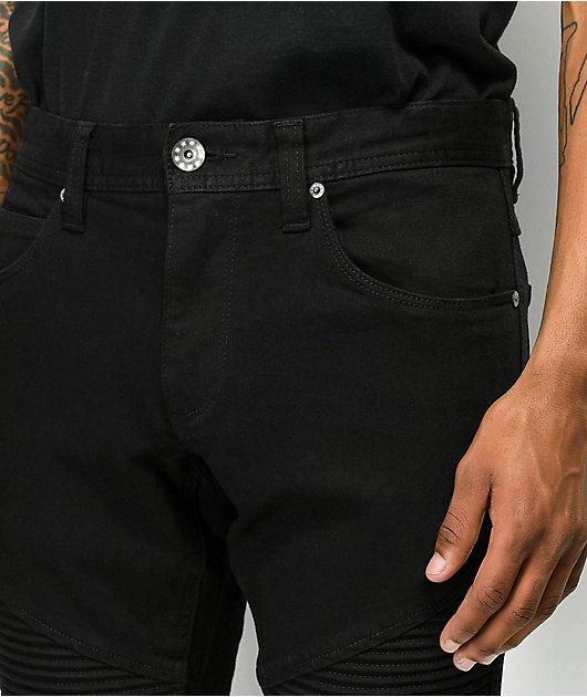 Ninth Hall Decoy Moto Pure Black Jeans