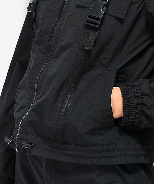 Ninth Hall Emira Black Utility Windbreaker Jacket