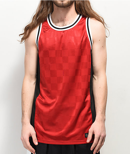Ninth Hall Free Throw Red & Black Basketball Jersey