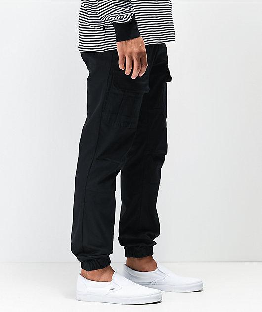 Ninth Hall Haul Slim Black Cargo Jogger Pants