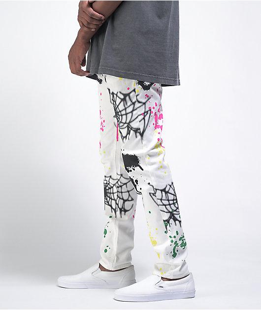 Ninth Hall Lure White Printed Skinny Jeans