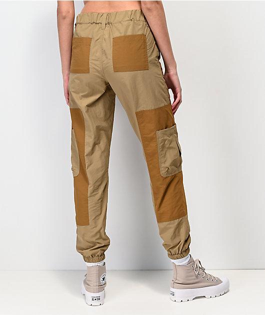 Ninth Hall Marnie Colorblock  jogger pantalones caqui