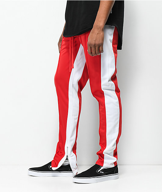 Ninth Hall Nordberg Red & White Track Pants