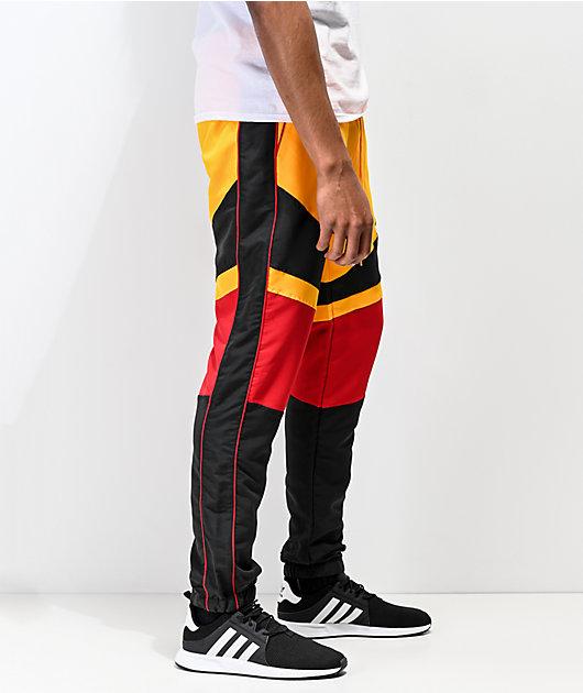 Ninth Hall Octane Yellow, Red, & Black Track Pants