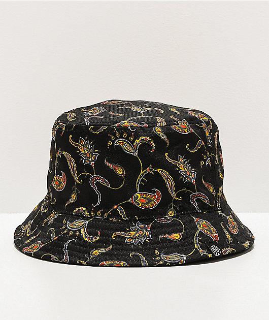 Ninth Hall Pause Paisley Black Bucket Hat