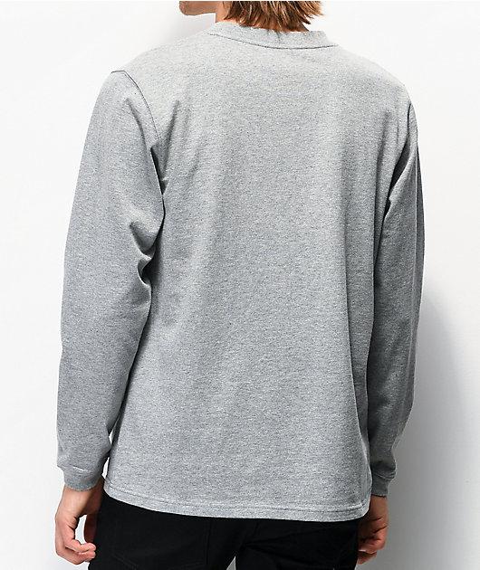 Ninth Hall Race Taped camiseta de manga larga de punto gris