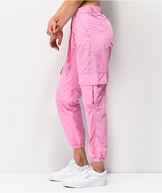 Ninth Hall Raines Buckle Belt Pink Cargo Pants