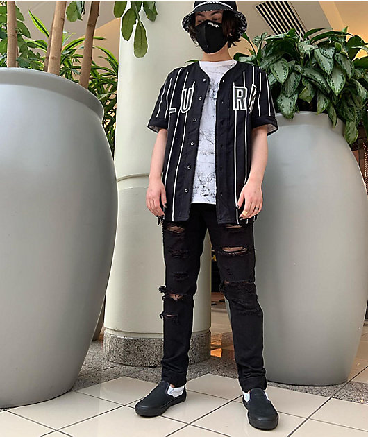 Ninth Hall Rogue Black Shredded Jeans