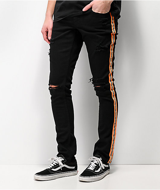 Ninth Hall Rogue Taped Skinny Black Denim Jeans