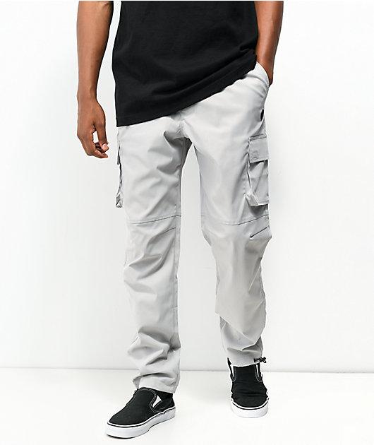 Ninth Hall Trance Light Grey Cargo Pants