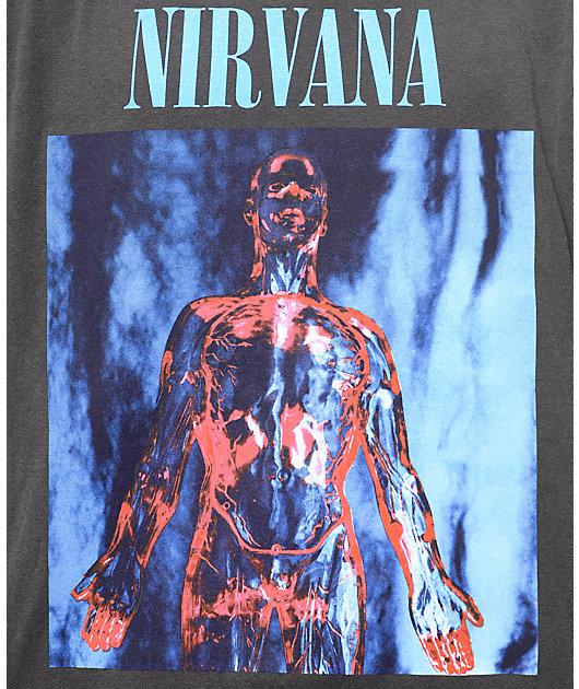 Nirvana Sliver Washed Black T-Shirt