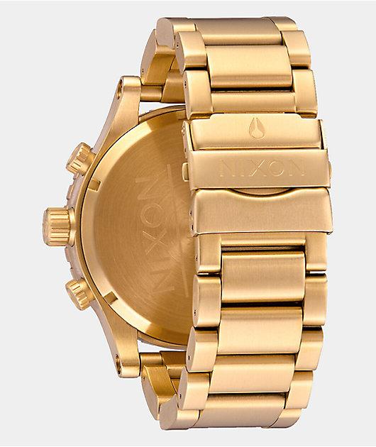 Nixon 51-30 All Gold Chronograph Watch
