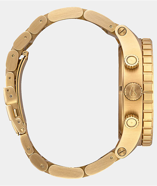 Nixon 51-30 reloj cronógrafo en color oro