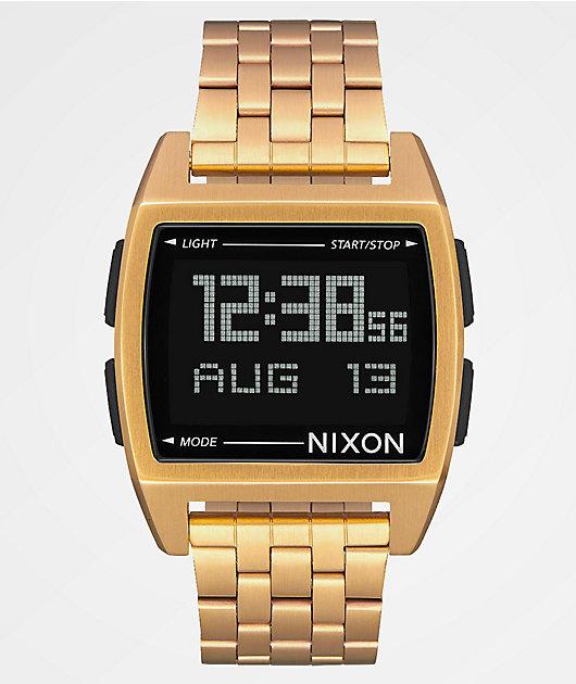 Nixon Base All Gold Digital Watch