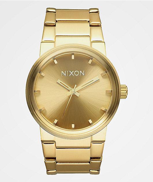 Nixon Cannon Gold Analog Watch